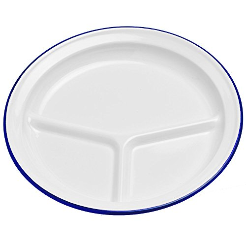 Amazon.com | Enamelware Divided C& Plate - Red Marble Dinner Plates Dinner Plates  sc 1 st  Amazon.com & Amazon.com | Enamelware Divided Camp Plate - Red Marble: Dinner ...