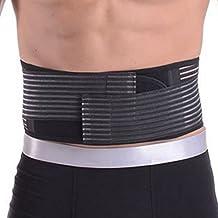 PANEGY Men & Women Adjustable Waist Trimmer Belt Stomach Body Wrap Protecting Warm Stretchy Waistband Belly Fat Burning Fitness Belt Black