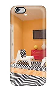 Fashion Hard Case For Iphone 6 Plus- Orange Kids8217 Playroom With Chevron Rugs And Chalkboard Defender Case Cover
