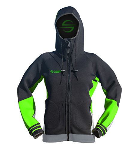 Kitesurfing Mens Hoodie - Platinum Sun Unisex Sessions Jacket Mens Womens Green M
