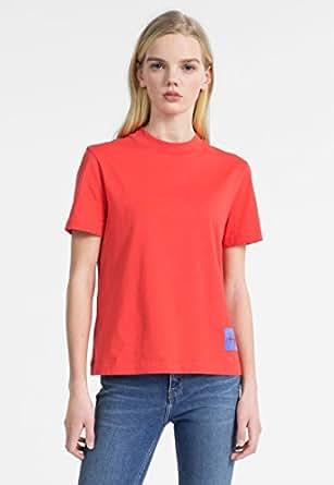 Calvin Klein T-Shirts For Women, Tomato (J20J207962 /Red - L)