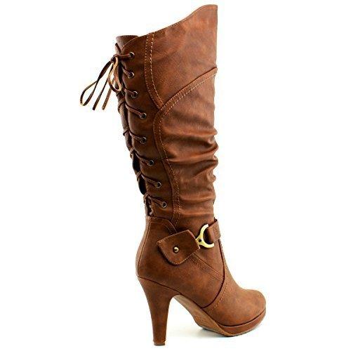 Tan Standard Womens Boots (Premier Standard - Women's Mid-Heel Trendy Fashion Boot, TPS Page-65 v3 Tan Size 7)