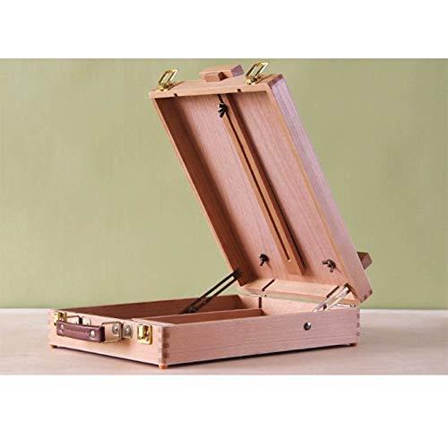 木製のポータブル写真アートボックス水彩スケッチデスクトップイーゼルレイズ可能な写真ボックス (Color : ウッド うっど, Size : 36.0*27.0*8.0 cm)   B07NS5WVQK