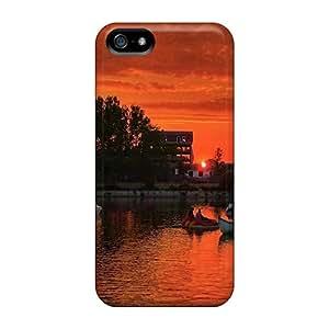 For Iphone 5/5s Fashion Design Amazing Sunset On Costinesti Romania Cases-Qpi8777cfpI