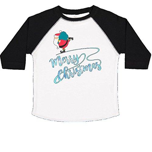 inktastic - Santa Ice Skating- Merry Toddler T-Shirt 4T White and Black (Ice Skating Santa)