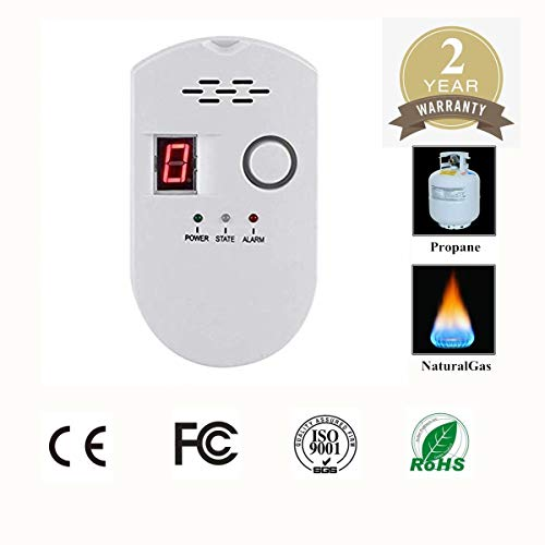 - Propane/Natural Digital Gas Detector, Home Gas Alarm, Gas Leak Detector,High Sensitivity LPG LNG Coal Natural Gas Leak Detection, Alarm Monitor Sensor Home/Kitchen (Style-2)