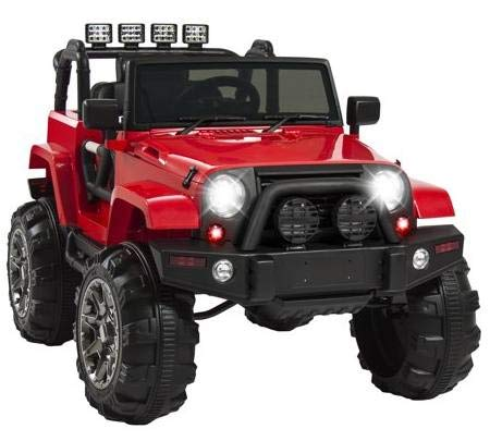 Amazon.com: Motorized Cars For Kids-Red Truck Car 12V with Remote Control Realistic Driving Experience for Your Little Ones: Toys & Games