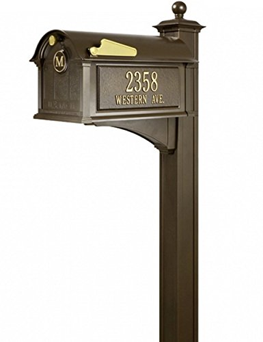 Whitehall Products Balmoral Personalized Streetside Monogram Mailbox (Streetside Mailbox Package)