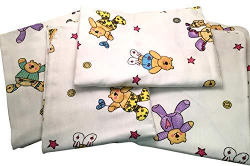 Phoenix Textiles 5 Pack Hospital Receiving Blankets Infant Newborn, Soft 100% Cotton Flannel, Fun Bear ()