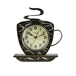 Westclox QA Quartz Accuracy Battery Operated Coffee Cup Wall Clock - Brown