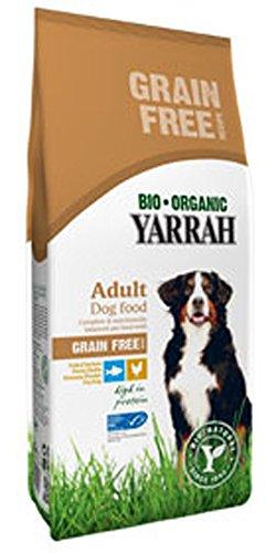Yarrah 2er-Set Bio Hundefutter Trocken Huhn und Fisch Getreidefrei 2kg