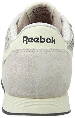 Reebok Classic Nylon, Zapatillas para Mujer, Gris (Lilac Ash/Classic White/Lead/Primal Red), 35.5 EU