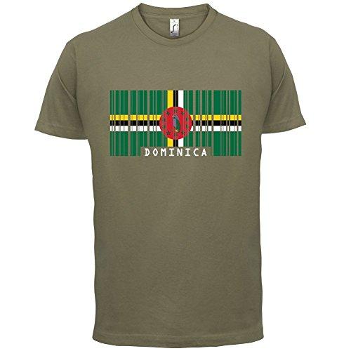 Dominica Barcode Flagge - Herren T-Shirt - Khaki - XS