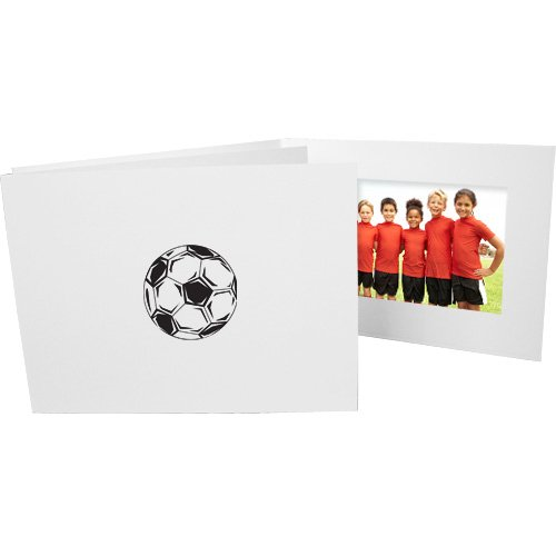 Soccer Player 4x6 Horizontal Cardboard Event Photo Folders (50 Folders)
