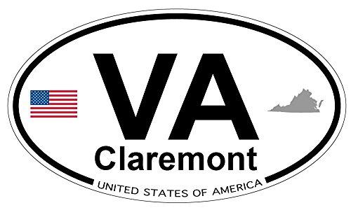 Claremont, Virginia Oval Sticker