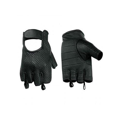 Hugger Affordable Men's Weatherlite Fingerless Motorcycle Glove (Large) ()