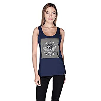 Creo Give Respect Tank Top For Women - M, Navy Blue