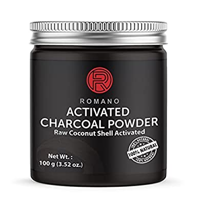 Activated Black Charcoal Powder Natural Teeth Whitening Toothpaste Strips, Organic Raw Coconut Shell, Kits 100g Food Grade Romano Highest Quality Stain Remover Whitener