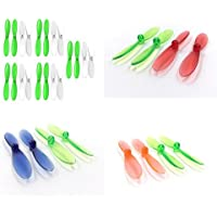 Walkera QR Ladybird V2 3-Axis 5.8Ghz FPV [QTY: 1] Green White 55mm Propellers Blades Props 5x Propeller Blade Prop Set 20pcs Drone Parts Drones [QTY: 1] Transparent Clear Blue and Rotor Factory Units