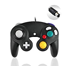 Gamecube Controller, Reiso 1 Pack Classic NGC Wired Controller for Wii Gamecube(Black)