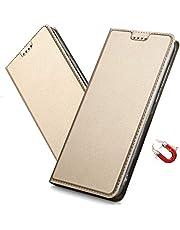 MRSTER Honor 20 Pro fodral, Honor 20 Pro Premium PU-läder fodral med dold magnetisk adsorption stötsäker flip plånbok fodral för Huawei Honor 20 Pro DT guld