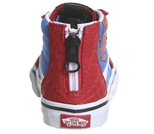 White Spiderman Chaussures Mixte Vans Bébé hi Sk8 Zip True Pas Premiers Rxn1vHfFwn