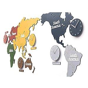 Wall clock Reloj Reloj de Pared Reloj de Pared Reloj de Pared Movimiento de escaneo silencioso Estilo nórdico Material de Madera (137 * 63cm) (220 * 115cm) 4