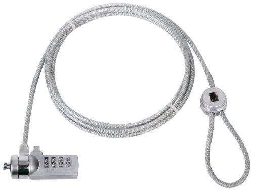 KOENIG Kabelschloss mit Zahlenkombination Diebstahlschutz fuer PC Laptop Notebook Display