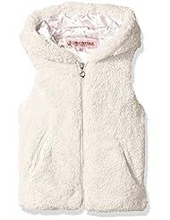 Urban Republic Big Girls\' Ur Faux Fur Vest, Ivory, 10/12