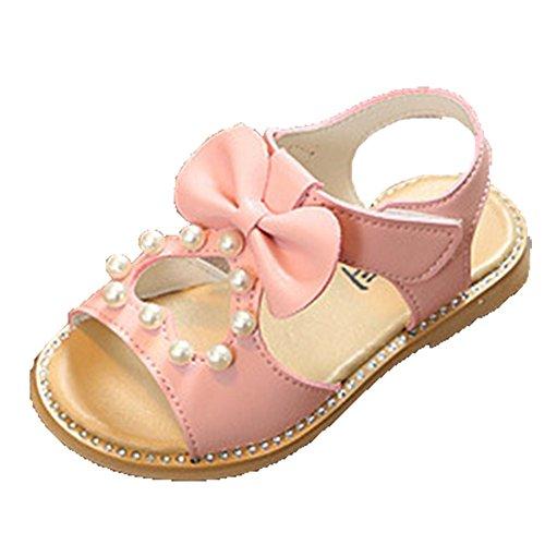 Ohmais Kinder Mädchen flach Freizeit Sandalen Sandaletten Kleinkinder Mädchen Halbschuhe Sandalette Ballerinas vZTpN38