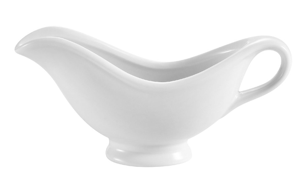 CAC China SBT-8 8.5-Ounce Porcelain Boat Shape Sauce Bowl, 8-1/4 by 2-3/4 by 4-1/4-Inch, Super White, Box of 24