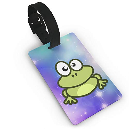 Mini Luggage Tag Frog PVC Business Card Holder for Baggage Bag Name Address ID Label Travel Identifier Accessories