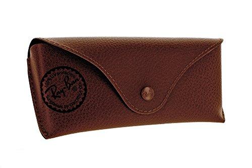 Original Ray Ban PU Leather Sunglasses Case Glasses Case (Brown Leather Eyeglass Case)