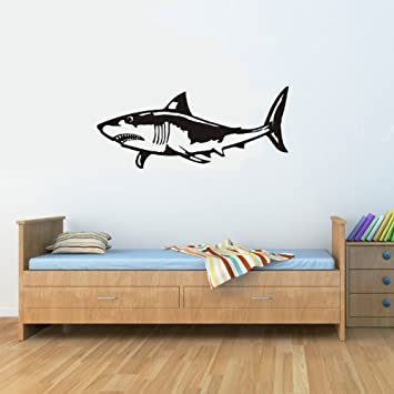 Great White Shark Vinyl Wall Decals Quotes Sayings Words Art Decor  Lettering Vinyl Wall Art Inspirational