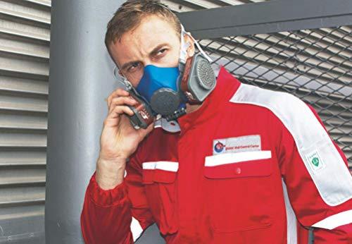 Induschoice Half Facepiece Reusable Respirator Spray Paint Pesticide Respirator Respiratory Protection Dual Cartridges Gas Mask,Medium(Mask+1 Pair Cartridges) by Induschoice (Image #4)