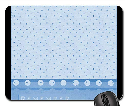(Mouse Pads - Background Blue Scrapbook Template Polka Dot)