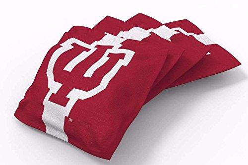 - PROLINE 6x6 NCAA College Indiana Hoosiers Cornhole Bean Bags - Stripe Design (A)