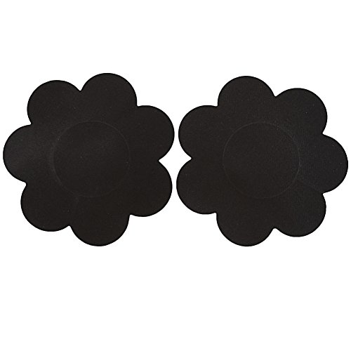 Ayliss 10Pairs Sexy Flower Pasties Breast Nipple Cover Stick on Bra Disposable, Black, One Size - Flower Bras Bra