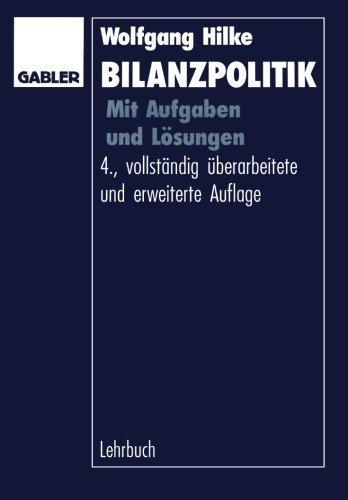 Bilanzpolitik: Mit Aufgaben und L????sungen (German Edition) by Wolfgang Hilke (1995-01-01)