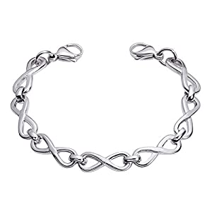 Medical Alert ID Stainless Forever Link Replacement Bracelet- 2 Sizes!