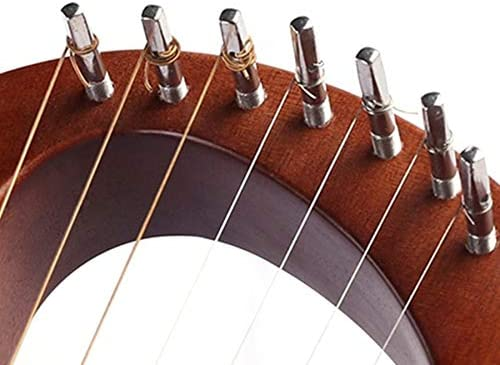 Gaoominy 7-String Lyre Harp Mahogany Solid Wooden Metal Strings Stringed Instruments