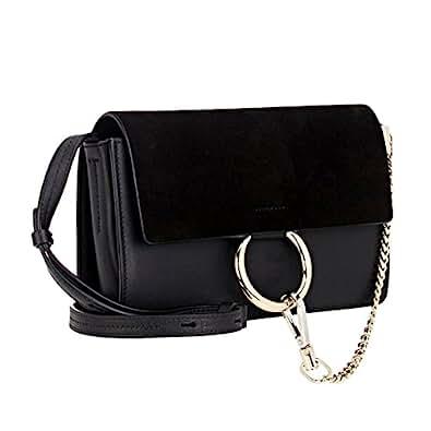 Actlure Genuine Leather Crossbody Shoulder Bag Purse Chain link