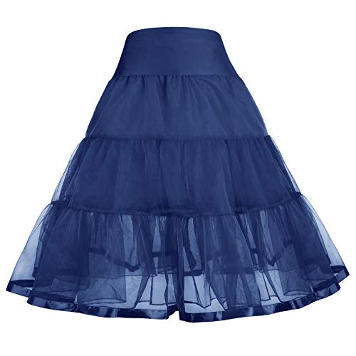GRACE KARIN 1950S Unique Vintage Crinoline Petticoat for Girls 12-13Y CL035-5]()