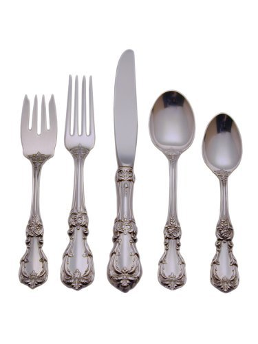 Reed & Barton Burgundy Sterling Silver 5-Piece Place Setting, Service for (Burgundy Sterling Silver Flatware)