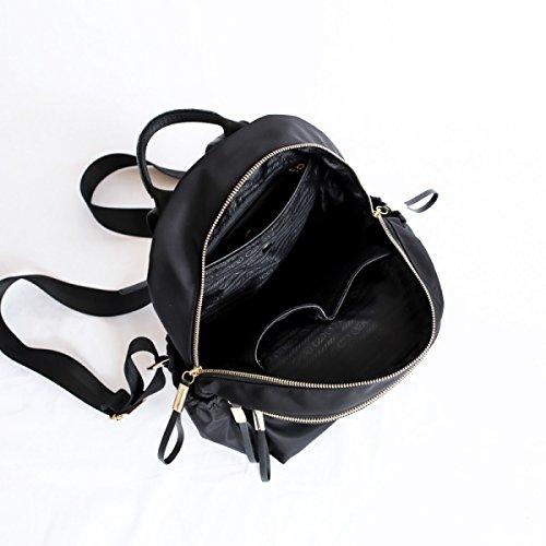 Mme Sac Tissu Par Dos équitation Sacs à à Sac En Black Bandoulière ZAIYI Dos Sacs Nylon Oxford Sac Féminine à à Sauvage à Femme Black Marée Dos qXzwXO