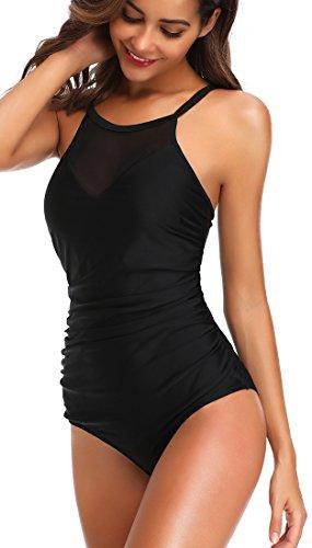 Nero Un da Colore Bagno quattro stili V Semplice Stile opzionali Pezzo Donna di Bettydom Costumi Colletto xgAqvwF