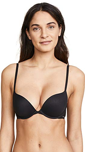 Calvin Klein Underwear Women's Perfectly Fit Convertible Push Up Bra, Black, -