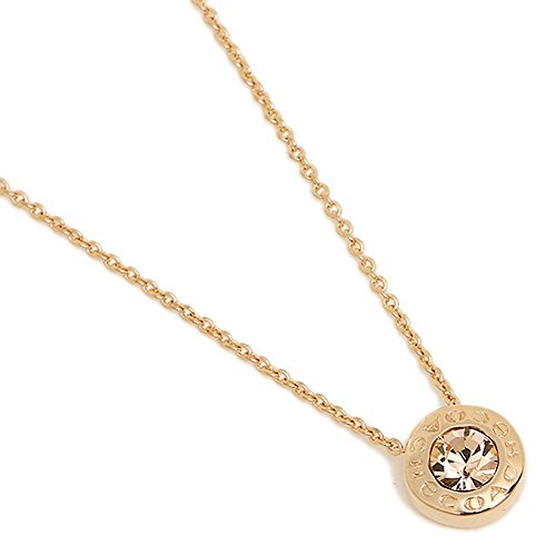 COACH OPEN CIRCLE STONE NECKLACE-ROSE GOLD ()