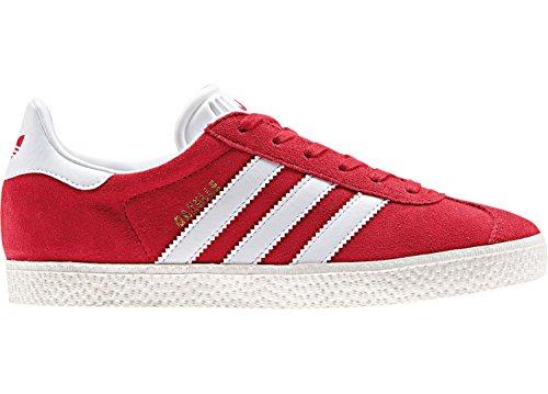 adidas GAZELLE J - Zapatillas deportivaspara niños Rojo (Scarlet/footwear White/gold Metallic)