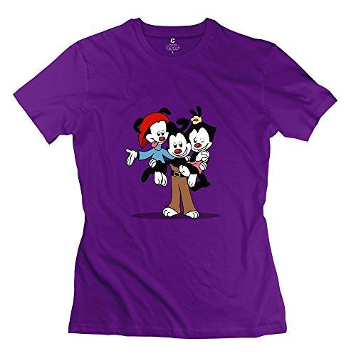 StaBe Women's Animaniacs Logo T-Shirt Slim Fit Vintage